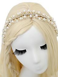 baratos -Imitação de Pérola Strass Headbands 1pç Casamento Ocasião Especial Capacete
