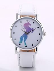 baratos -Homens Mulheres Quartzo Relógio de Pulso Chinês N / D PU Banda Casual Minimalista Preta Branco Azul Vermelho Laranja Verde Rosa Roxa