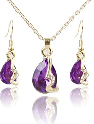 cheap -Women's Jewelry Set - Gold Plated Simple, Fashion Include Pendant Necklace Purple For Wedding / Daily