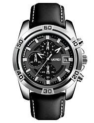 preiswerte -SKMEI Herrn Kinder Modeuhr Sportuhr Armbanduhren für den Alltag Chinesisch Automatikaufzug Kalender Wasserdicht Stopuhr Echtes Leder Band
