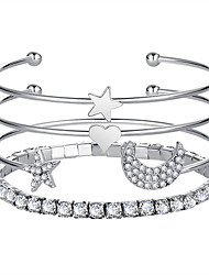 cheap -Women's Bangles - Star Fashion Bracelet Gold / Silver For Prom / Date