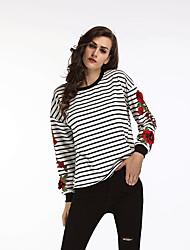 abordables -Tee-shirt Femme, Fleur - Coton Vacances Chic de Rue