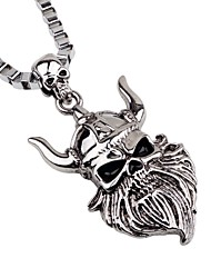 cheap -Men's Pendant Necklace / Chain Necklace - Skull Gothic Silver Necklace One-piece Suit For Party, Going out