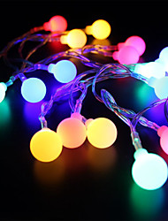 abordables -brelong a prueba de agua 28 leds 2m string light rgb + white decorative eu plug