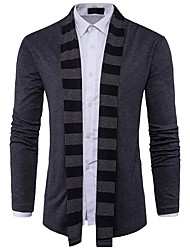 cheap -Men's Daily Casual Color Block Shirt Collar Sweater Cardigan, Long Sleeves Winter Fall Polyester Spandex