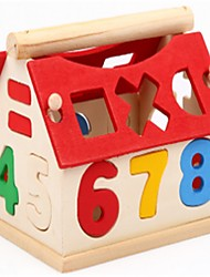 cheap -Building Blocks Math Toy Educational Toy Upright Design Wooden Novelty Characters Houses Alphabet Shape School / Graduation Artistic Style