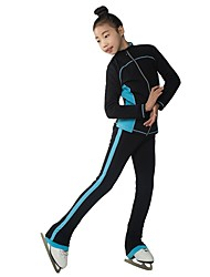 cheap -Over The Boot Figure Skating Tights Women's Girls' Ice Skating Pants / Trousers Tracksuit Top Khaki Blue Yellow Spandex Inelastic