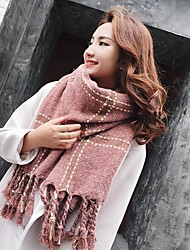 cheap -Women's Knitwear Rectangle Striped Solid Winter Blushing Pink