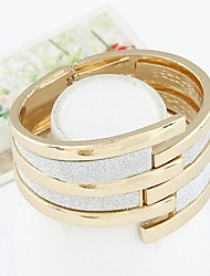 cheap -Women's Bangles Cuff Bracelet Vintage Statement Jewelry Fashion Alloy Circle Geometric Jewelry Gift Going out Costume Jewelry Gold