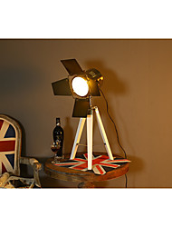 Luz Ambiente Luminária de Mesa Regulável Interruptor On/Off Alimentação AC 220V Branco Preto Amarelo Escuro Marron