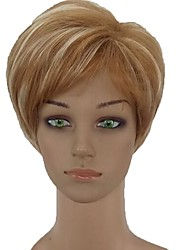 cheap -Synthetic Wig Straight Pixie Cut Synthetic Hair Side Part Blonde Wig Women's Short Capless