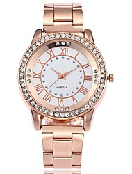 cheap -Men's Women's Casual Watch Fashion Watch Wrist watch Chinese Quartz Large Dial Alloy Band Casual Silver Gold Rose Gold
