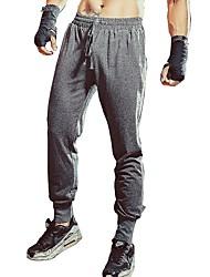 Недорогие -Муж. Брюки-штаны Брюки для бега Черный Серый Виды спорта Однотонный Брюки Бег Велосипеды для активного отдыха Спортивная одежда Фитнес, бег и йога / Зима