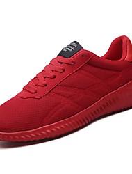 Masculino sapatos Borracha Inverno Outono Conforto Tênis Caminhada Botas Curtas / Ankle Cadarço de Borracha para Preto Cinzento Vermelho