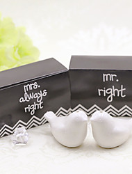 cheap -Bridal and Groom Ceramic Salt and Pepper Shakers Set Wedding Favor