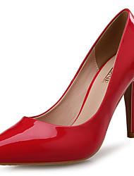 レディース 靴 エナメル 春 秋 コンフォートシューズ ヒール スティレットヒール ポインテッドトゥ のために 結婚式 パーティー レッド グリーン