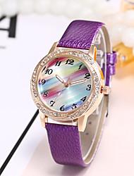 cheap -Women's Wrist Watch Chinese Casual Watch PU Band Luxury / Casual / Fashion Black / White / Blue
