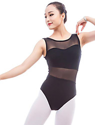 cheap -Ballet Leotards Women's Performance Cotton Split Joint Sleeveless Natural Leotard / Onesie
