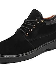 Masculino sapatos Borracha Primavera Outono Conforto Botas Caminhada Botas Curtas / Ankle Cadarço de Borracha para Preto Cinzento Amarelo