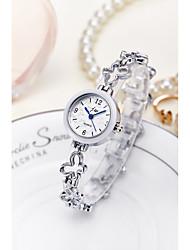 Недорогие -Жен. Часы-браслет / Наручные часы Китайский Защита от влаги сплав Группа Блестящие / Кольцеобразный / Мода Серебристый металл / Золотистый