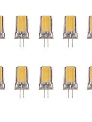 Недорогие -10 шт. 2W 80lm G4 Двухштырьковые LED лампы 1 Светодиодные бусины COB Тёплый белый Холодный белый 220-240V