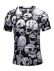cheap -Men's Weekend Active Punk & Gothic Slim T-shirt Print Round Neck