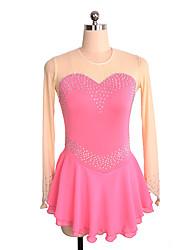 abordables -Robe de Patinage Artistique Femme / Fille Patinage Robes Rose Spandex Non Elastique Utilisation / Exercice Tenue de Patinage Couleur