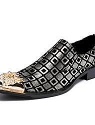 billiga -Herr Formella skor Nappaskinn Höst / Vinter Oxfordskor Guld / Silver / Bröllop / Fest / afton / Fest / afton / Novelty Shoes