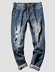 Pánské Roztomilý Šik ven Lehce elastické Džíny Kalhoty Mid Rise Polyester Tisk Zima Podzim