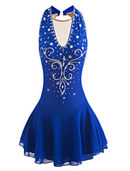 cheap -Figure Skating Dress Women's / Girls' Ice Skating Dress Aquamarine Spandex Rhinestone High Elasticity Performance Skating Wear Handmade