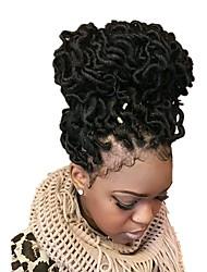 cheap -Curly Faux locs goddess Dread Locks  kanekalon Hair Braid Crochet 18inch hair braids