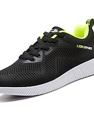 Masculino sapatos Tule Primavera Outono Solados com Luzes Tênis Corrida para Atlético Preto Azul Escuro Preto / verde