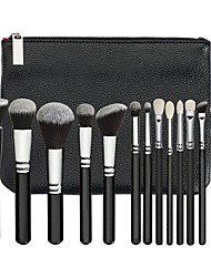 cheap -15pcs Makeup Brush Set Pony Synthetic Hair Eco-friendly Professional Soft Synthetic Resin Eye Face Nose