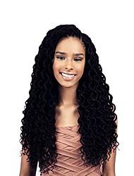 cheap -Faux curly locs kanekalon Dread Locks Hair Braid Crochet 18inch hair braids