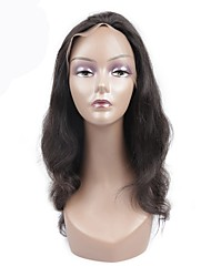 cheap -Remy Human Hair Lace Front Wig Wig Brazilian Hair Body Wave With Baby Hair 130% Density Natural Hairline Women's Short / Medium Length Human Hair Lace Wig