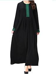 cheap -Women's Casual Swing Dress - Print Maxi / Summer