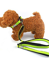 Недорогие -Кошка Собака Поводки Отражение Компактность Складной Однотонный Другие материалы Черный Зеленый