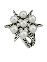 cheap -Women's Imitation Pearl Imitation Pearl / Alloy Knuckle Ring - Geometric Vintage / Basic / Fashion Silver Ring For Daily / Date