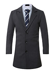 cheap -Men's Work Cotton Coat - Solid Colored Shirt Collar