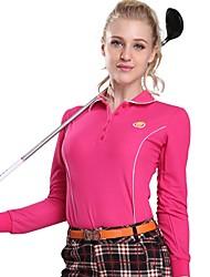 Per donna Manica lunga Golf T-shirt Felpa Allenamento Traspirabilità Golf