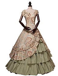 cheap -Victorian Costume Women's Adults' Dress Party Costume Rainbow Vintage Cosplay 100% all-natural ingredients