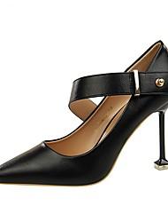 baratos -Mulheres Sapatos Courino Primavera Outono Conforto Saltos Ciclismo Salto Agulha Dedo Apontado Botas Curtas / Ankle Lantejoulas para Social