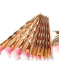 abordables -11pcs Pinceaux à maquillage Professionnel Set de Pinceaux de Maquillage Pinceau en Poils de Poney / Poil Synthétique / Pinceau en Fibres Synthétiques Economique / Professionnel / Doux résine