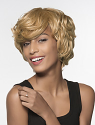 cheap -Human Hair Capless Wigs Human Hair Natural Wave Side Part Short Machine Made Wig Women's