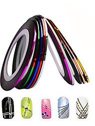 1pcs de 1 mm de uñas 20m línea de cinta del arte de la raya etiqueta engomada del clavo arte belleza decoración herramientas nc124 entrega