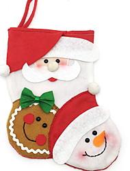 Недорогие -1шт Рождество Рождественские чулки Праздничные украшения,22