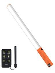 oukoyi poche poche lumière photographie portable led vidéo lumière baguette avec sac de transport ir télécommande et usb rechargeable