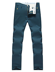 cheap -Men's Mid Rise Micro-elastic Loose Pants,Simple Solid Polyester Spring/Fall Spring