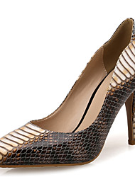 cheap -Women's Shoes Synthetic Microfiber PU Spring Fall Comfort Heels Stiletto Heel Pointed Toe Animal Print for Party & Evening Dress Beige