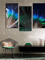 cheap -Canvas Print Rustic Modern, Three Panels Canvas Vertical Print Wall Decor Home Decoration